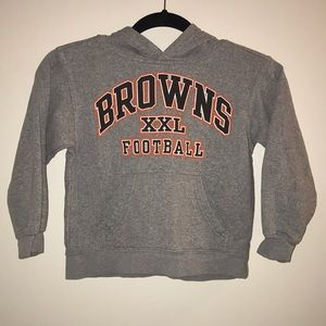 NFL Team Apparel Browns hoodie XS 4/5 Cleveland